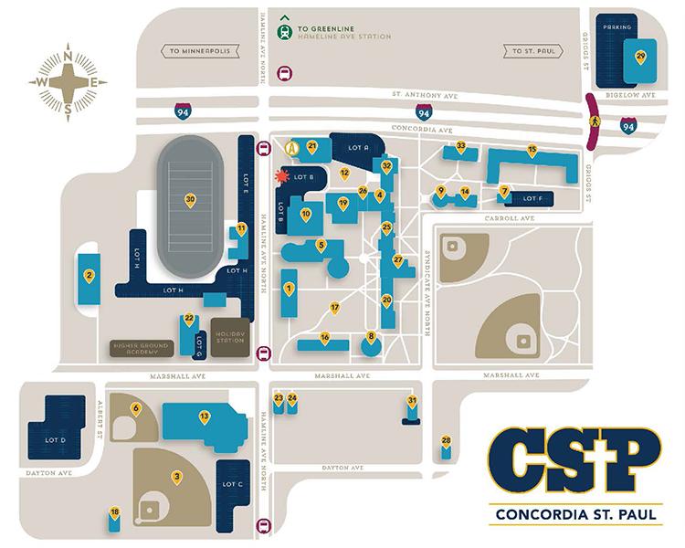 concordia university campus map Campus Map Directions Concordia St Paul concordia university campus map